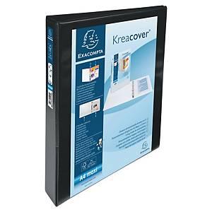 Carpeta personalizable Exacompta - A4+ - 4 anillas - lomo 50 mm - negro