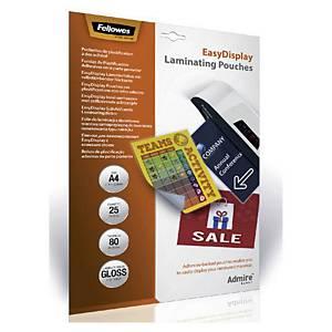 Fellowes Easy Move pochettes de plastification adhésives A4 - boîte de 25