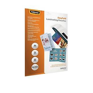 Fellowes Easyfold lamineerhoezen warmlaminatie, zelfklevende rug, A4, per 25