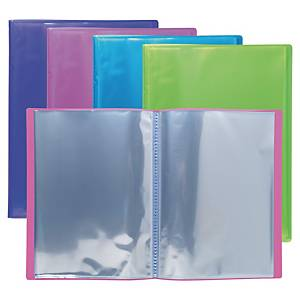 Iderama display book A4 30 pockets assorted colours - pack of 4