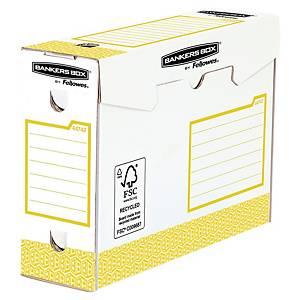 Boîte à archives Bankers Box System, l100 x P345 x H253 mm, jaune, 20unit.