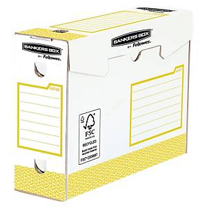 Bankers Box System, W 100xD 345xH 253mm, yellow, pack of 20