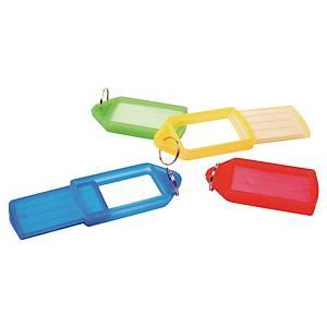 Identifikační plastový přívěsek na klíče Pavo, barevný mix, balení 10 kusů