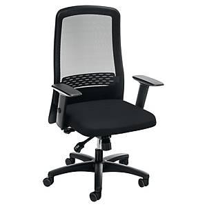 Prosedia Eccon 7172 bureaustoel met synchroon mechanisme, stof/mesh, zwart