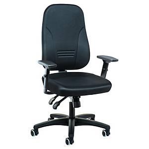 Bürostuhl Interstuhl Synchron 1452, hohe Rückenlehne, bis 110kg, schwarz