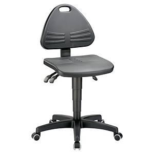 Bürostuhl Interstuhl 9608, niedere Rückenlehne, bis 110kg, schwarz