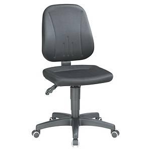 Bürostuhl Interstuhl 9653, niedere Rückenlehne, bis 110kg, schwarz
