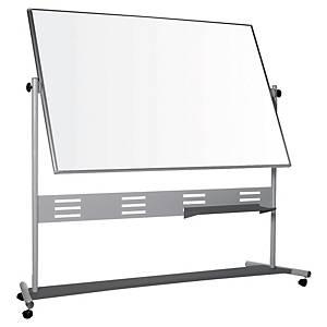 Tableau blanc mobile Bi-Office Evolution - pivotant - magnétique - 120 x 150 cm