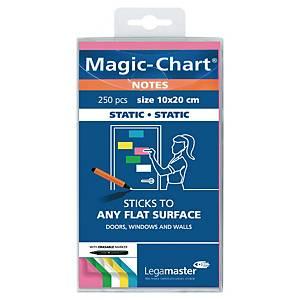 Notes Legamaster Magic-Chart, 10 x 20 cm, ass. farger, pakke à 250 stk.