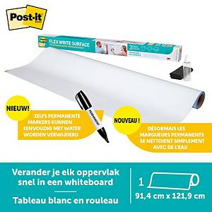 Rouleau tableau blanc Post-it® Super Sticky Dry Erase DEF4X3, 91,4 cm x 1,219 m