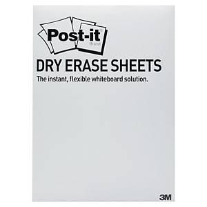 Whiteboardfolie ark 3M Post-it Super Sticky Dry Erase, 27,9 x 39 cm, 15 stk.