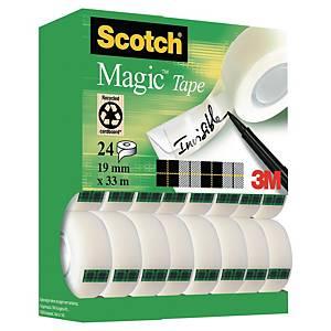 Scotch Magic Tape Tower 19mm x 33m - Pack of 24