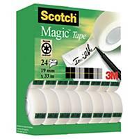Tape Scotch Magic 810, 19 mm x 33 m, pakke à 20 ruller + 4 gratis