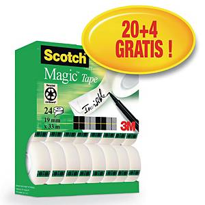 Scotch Magic Tape Tower 19mm x 33m - Pack of 24