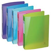 Exacompta Iderama 51780E A4 Ring Binder, 40mm, 4-ring, assorted, pack of 5