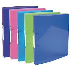 Iderama 2-ring binder in PP 30 mm assorted colours - pack of 5