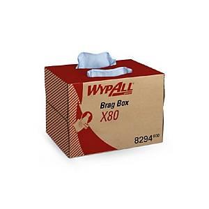 Caja dispensadora de 160 paños Wypall X80 - azul