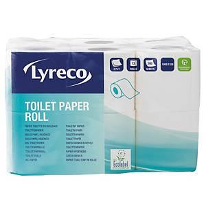 Lyreco wc-paperi 2-kerroksinen, 1 kpl=12 rullaa