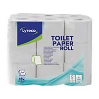 Toilettenpapier Lyreco, 3-lagig, Packung à 18 Rollen