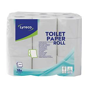 Toilet paper Lyreco, 3-ply, package of 18 rolls