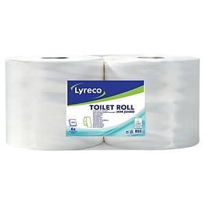 Lyreco Jumbo toalettpapír, fehér, 2 rétegű