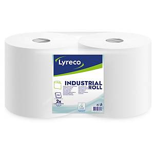 Lyreco industrial roll 2 ply 250 m - Pack of 2