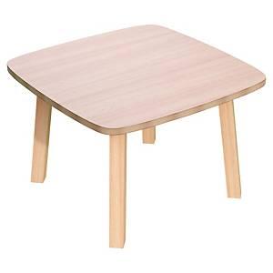 TABLE BASSE CARREE LISBO 60x60 CM - COLORIS HÊTRE