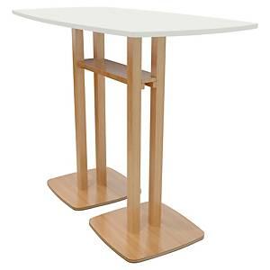 TABLE HAUTE LISBO L. 114 x P. 75 CM 4 PERSONNES - COLORIS BLANC