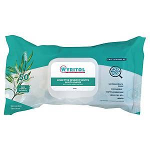 Lingette désinfectante multi-usages Wyritol - paquet de 50