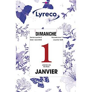 Bloc secrétaire Lyreco, calendrier à effeuiller, français, 1 jour par feuille