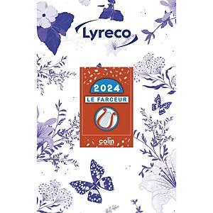 Lyreco secretaresseblok met scheurkalender, Franstalig, 1 dag per blad