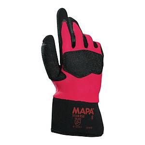 Rękawice robocze MAPA Titan 850, czarno-czerwone, rozmiar 8, para