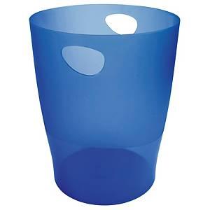 Caixote do lixo Exacompta Ecobin Ocean - plástico - 15 L - azul translúcido