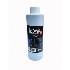 Bote de tinta para tampón - 250 ml - azul