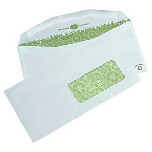 Enveloppe mécanisable recyclée 114 x 229 - 80 g - fenêtre 45 x 100 - par 1000