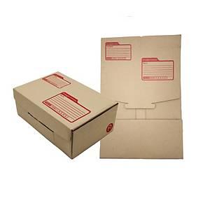 กล่องพัสดุแบบไดคัท 17 x 25 x 9ซม. แพ็ค 10 กล่อง สีน้ำตาล