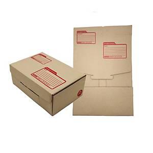 กล่องพัสดุแบบไดคัท กระดาษคราฟท์ KI ขนาด 22 x 35 x 14ซม แพ็ค 10 กล่อง สีน้ำตาล