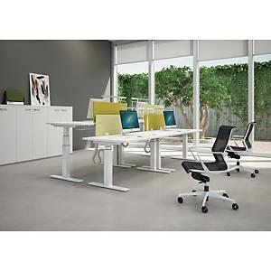 Bureau électrique Quadrifoglio Sit & Stand - L 140 cm - blanc
