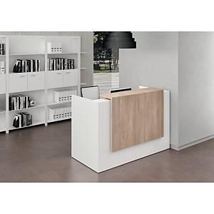 Banque d accueil compacte Quadrifoglio Manhattan - L 126 cm - blanc/orme