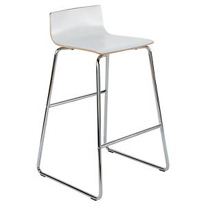 Chaise haute Panama, bois, blanche