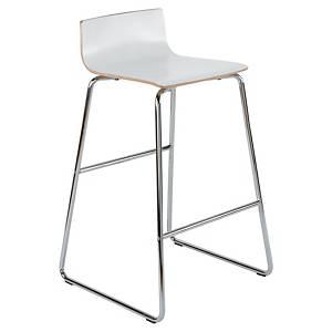 Panama hoge stoel, hout, wit