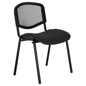 NOWY STYL ISO MESH VISITOR CHAIR BLACK