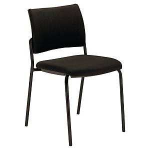 Chaise de réception Savannah avec 4 pieds, tissu, noire