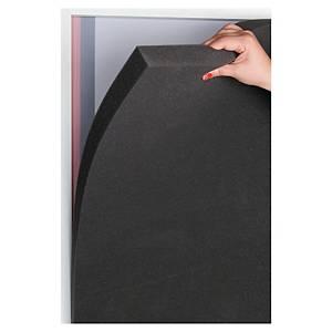 Akustikschaum Paperflow, 174x94 cm, grau