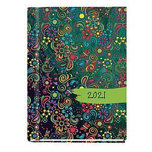 Kalendarz MICHALCZYK & PROKOP Marta B6, tygodniowy, wzór w kwiaty