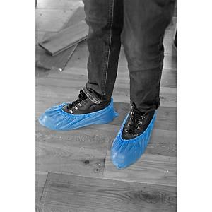 PE Disposable Overshoes - Blue Bx2000