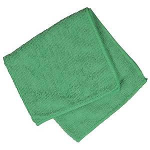 Mikrofiberklud, grøn, 32 x 32 cm, pakke a 20 stk.