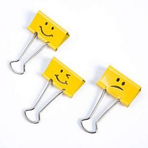 Klipy na papier RAPESCO 1351 Emojis,19 mm, žlté