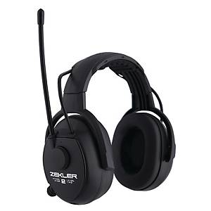 Hørselvern Zekler Skydda 412R, radio, sort, SNR 30 dB