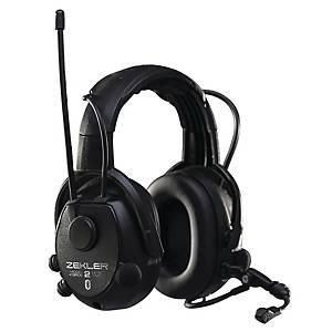 Høreværn Skydda Zekler 412RDB, radio, sort, SNR 30 dB